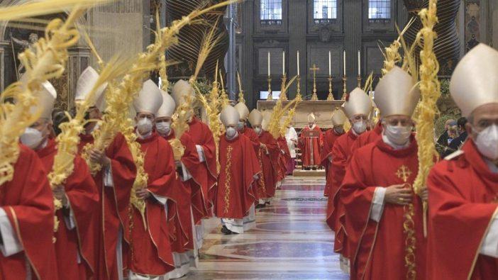 Misa Minggu Palma di Basilika Santo Petrus (Vatican News)