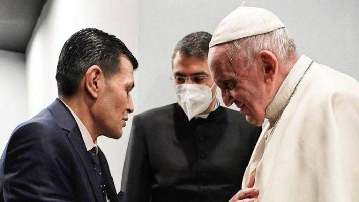 Paus bertemu Bapa dari Alan Kurdi (Vatican Media)