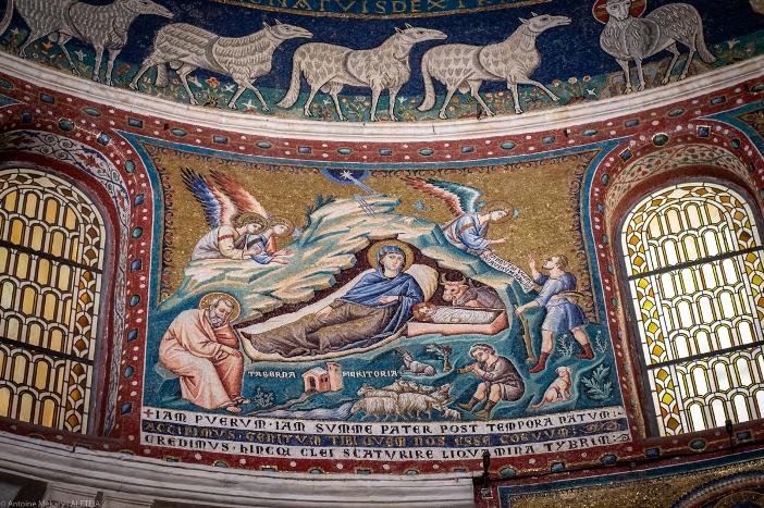 Kapel Maria Bunda Belas Kasih, di sisi kiri apse, di Basilika Santa Maria di Trastevere © Antoine Mekary | ALETEIA