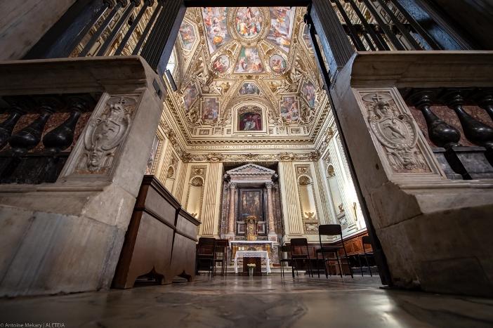 Ikon Maria Bunda Belas Kasih (abad ke 6-7) di Basilika Santa Maria di Trastevere © Antoine Mekary | ALETEIA