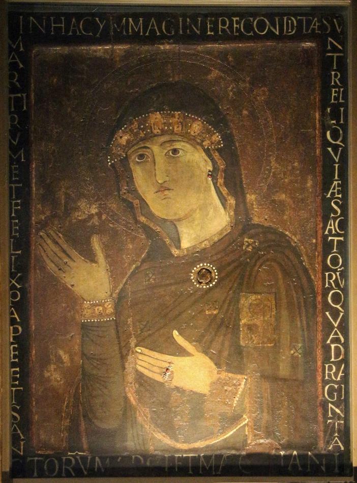 Basilika Santo Laurensius di Damaso. Di kapel Sakramen Mahakudus disimpan ikon Madonna Haghiosoritissa (abad ke-11). © Sailko (CC BY 3. 0) melalui Wikimedia Commons