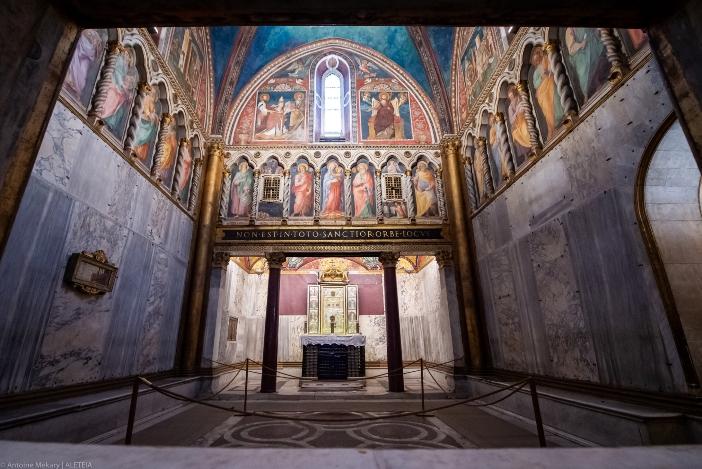 "Tempat ziarah Scala Santa. Di puncak Tangga Suci ada ""tempat ziarah paling dihormati di Roma,"" ""Sancta Sanctorum"". © Antoine Mekary | ALETEIA"