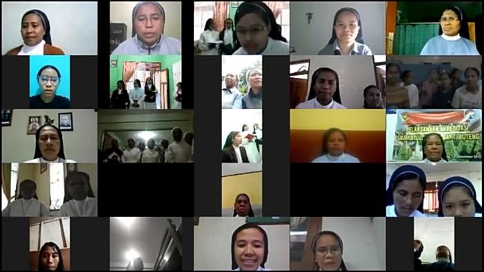 Sebagian peserta ibadat online