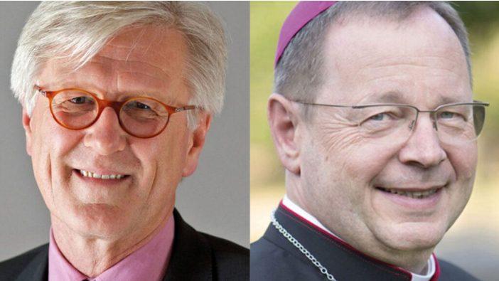 Ketua Dewan Gereja Injili di Jerman, Heinrich Bedford-Strohm (kiri), dan Ketua Konferensi Waligereja Jerman, Mgr Georg Bätzing