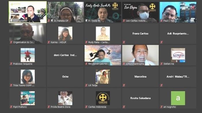 Sebagian dari peserta Konferensi Pers virtual