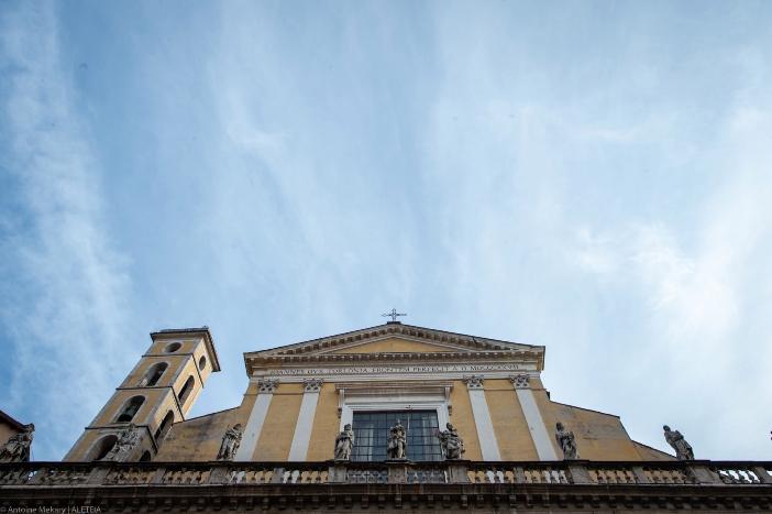 "Basilika 12 Rasul Suci. Pada abad ke-5, beberapa dokumen menyebutkannya sebagai ""titulus apostolorum"". Basilika 12 Rasul Suci adalah milik Kementerian Dalam Negeri Italia © Antoine Mekary   ALETEIA"