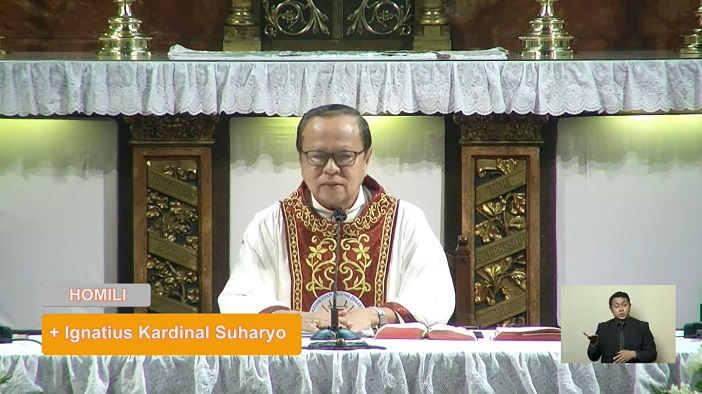 Paus Fransiskus dalam homili Misa Paskah Pontifikal 4 April (PEN@ Katolik/pcp/screenshot)
