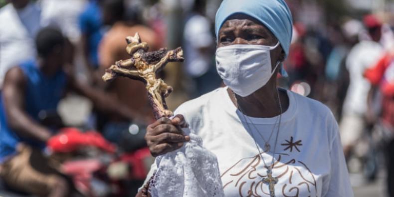 Protes terhadap penculikan di Haiti (REGINALD LOUISSAINT JR I AFP)