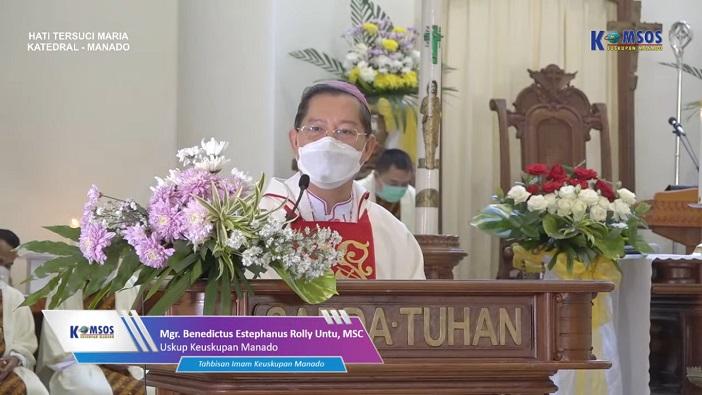 UIskup Manado Mgr Benedictus Estephanus Rolly Untu MSC