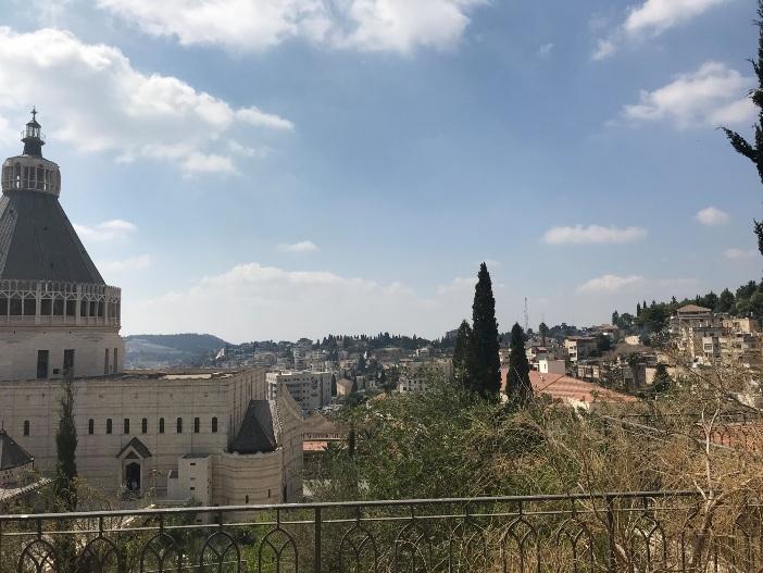 Pemandangan Basilika Kabar Sukacita di Nazareth © Zelda Caldwell