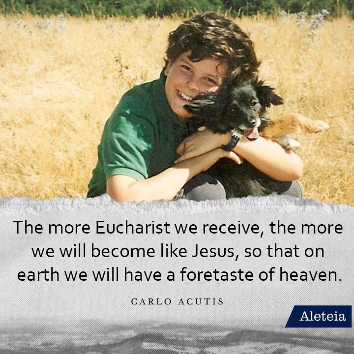 Semakin banyak kita menerima Ekaristi, semakin kita menjadi seperti Yesus, sehingga di bumi kita bisa mencicipi surga (Carlo Acutis)