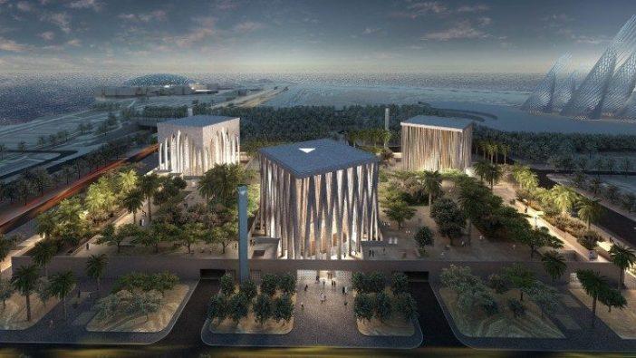 Model virtual Rumah Keluarga Abrahamik masa depan di Abu Dhabi.